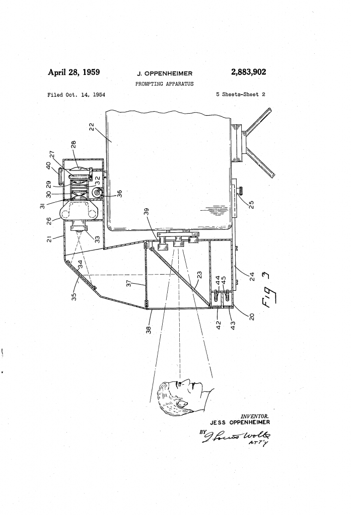 TelePrompTer Patent
