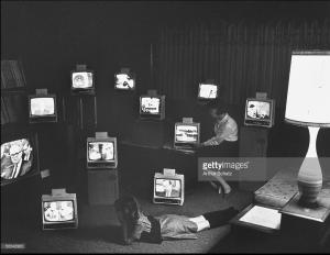 LIFE magazine photo of TV sets